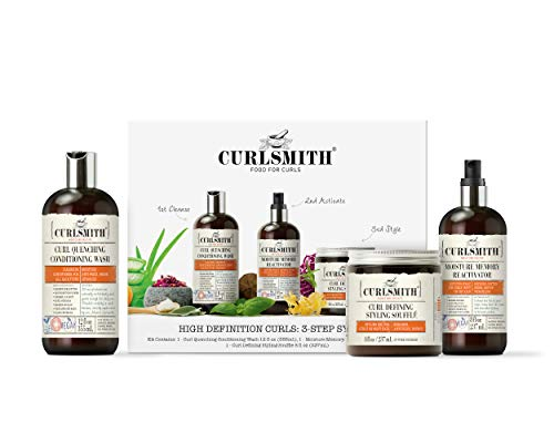 Curlsmith - High Definition Curls: 3-Step System Kit - Vegan Haircare for Dry, Wavy, Curly or Coily Hair (1 x 12oz, 2 x 8oz)