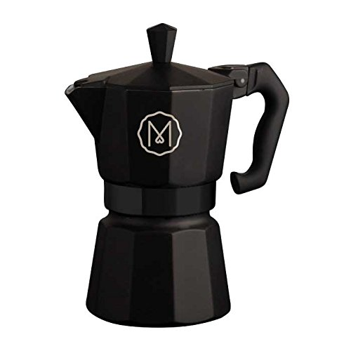 Mikah Classic Moka Machine à café 3 tasses Noir