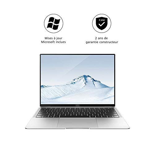 HUAWEI MateBook X Pro - PC Portable - 13.9' tactile (Core i5-8250U, RAM 8Go, SSD 256Go, NVIDIA GeForce MX150, Windows 10 Home, Clavier Français AZERTY) – Argent