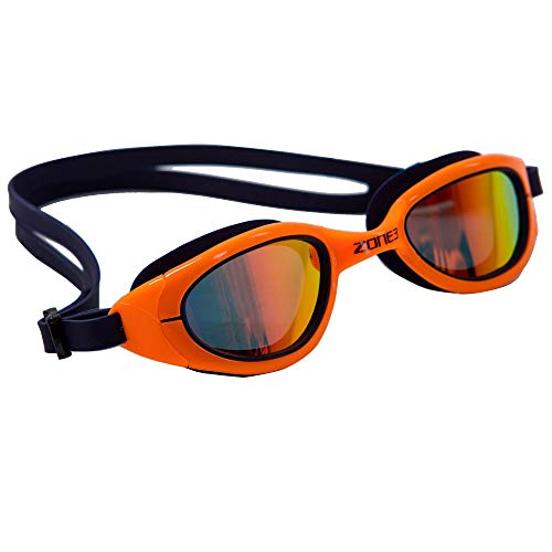 ZONE3 Attack - Gafas de natación polarizadas, color azul marino/naranja neón, talla única