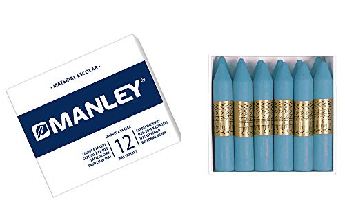 Manley MNC04840 – Pack of 12 Crayons, Light Blue