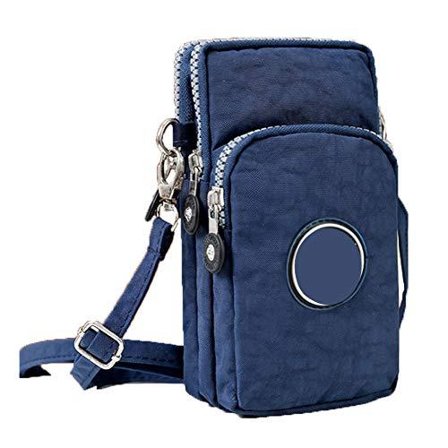 Nwhw Mini Bolso de Teléfono Móvil Bandolera Mujer Pequeño Bolsa de Hombro Embrague con Correa de Muñeca Billetera Bolsa de Cintura Cuerpo Cruzado Deportes, 8-M