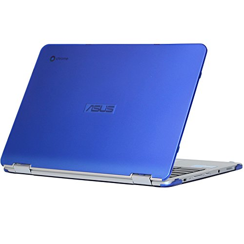 mCover iPearl Hard Shell Case for 12.5-inch ASUS Chromebook Flip C302CA Series Laptop - Blue