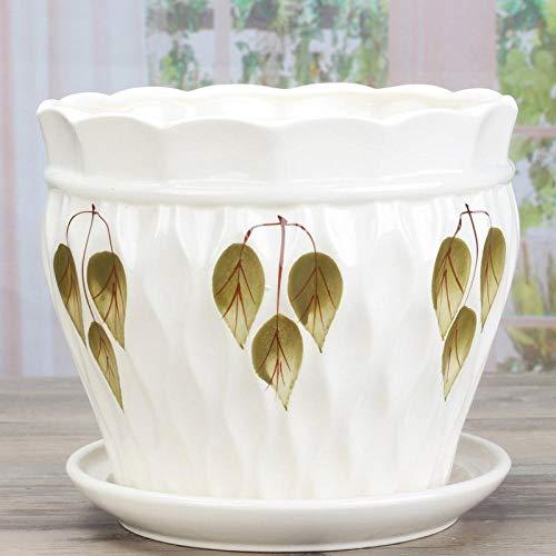 Standbeelden Landschapspotten Planten Keramische Bloempotten Bonsaipot, Balkonpotten Voor Bloemen Met Dienblad Chinese Stijl Bloempotten