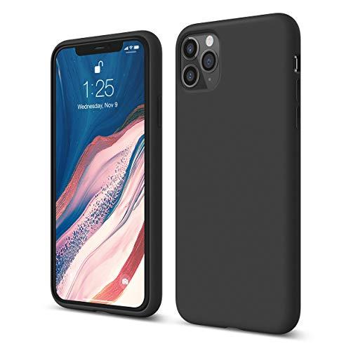 """Elago Silicone Liquido Custodia Cover Compatibile con iPhone 11 PRO Max Case (6.5""""), Silicone Liquido Premium, Protezione Full Body : Case Antiurto 3 Strati (Nero)"""