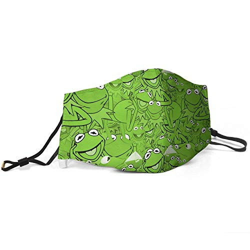 Squirm Factory Gesichtsdekoration Wiederverwendbare Nase Mund Co-vers Einstellbare Kermit-The-Frog-Muppet-Kinder 's-Furry-Toys-Gree- Gesichtsdekoration