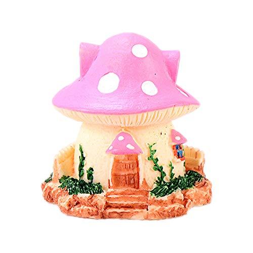 Cratone Figura Decorativa en Miniatura de Hada de jardín y Setas para...