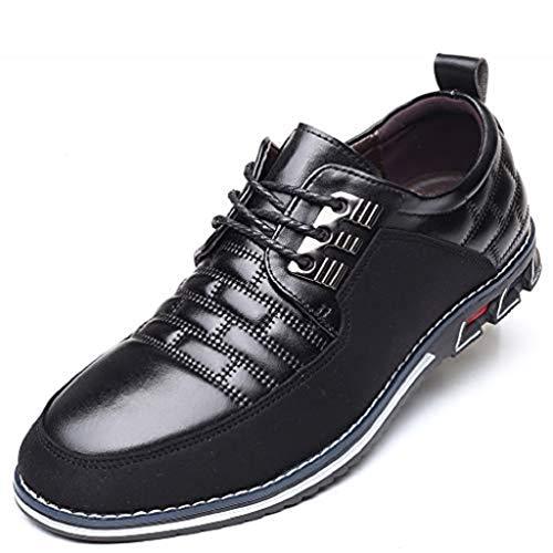 Harvards - Hybrid-Leder-Schuhe Herrenschuhe (48,Black)