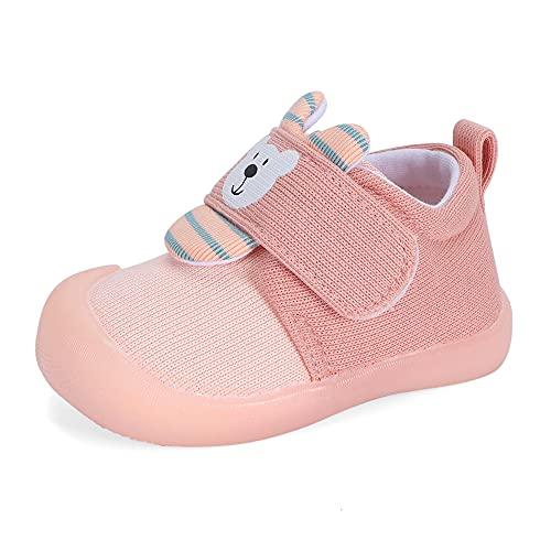 MASOCIO Zapatillas Bebe Niña Zapatos Primeros Pasos Deportivas Bebé Antideslizante Talla 21 Rosa
