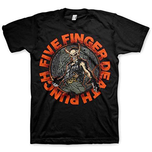 Five Finger Death Punch Seal of Ameth - Camiseta Hombre, Negro (Schwarz - Schwarz), Small