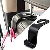 Qinqin666 Crochets d'appui-tête de siège de Voiture, Clips Voiture Crochet Seat Auto Fastener accessries for Volkswagen Polo VW Golf 7 Tiguan Polo UP T5 T6 T-ROC Teramont Atlas GTI pour Les Voitures