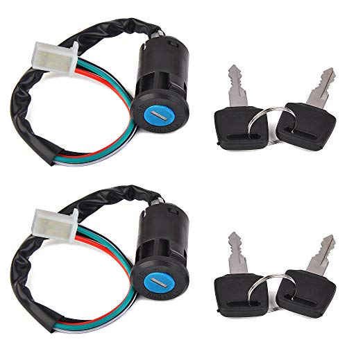 2pcs of Ignition Key Switch Replacement for Sunl Taotao Coolster 50cc 70cc 90cc 110cc 125cc Chinese ATV Apollo Dirt Bike Scooter Parts