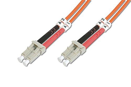 DIGITUS LWL Patch-Kabel OM2 - 1 m LC auf LC Glasfaser-Kabel - LSZH - Duplex Multimode 50/125µ - 10 GBit/s - Orange