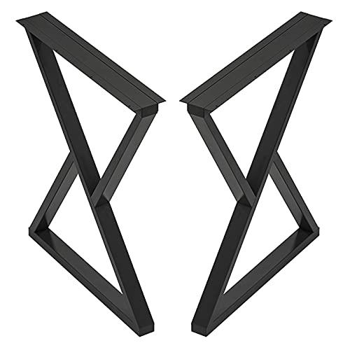 Patas De Mesa De Metal,Patas De Muebles Industriales Resistentes De 70cm 100cm,Patas De Mesa De Bar/Comedor,2 Piezas De Pies De Muebles De Bricolaje,Con Base Ajustable,Black-40×100cm/15.7×39.4in