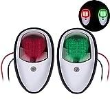 OurLeeme Luces de Navegación para Barcos, 2 Piezas 12V Verde Rojo Marina Yate para Barcos Luz LED Señal de Navegación Puerto de Lado Luz de Proa para Barco Yate