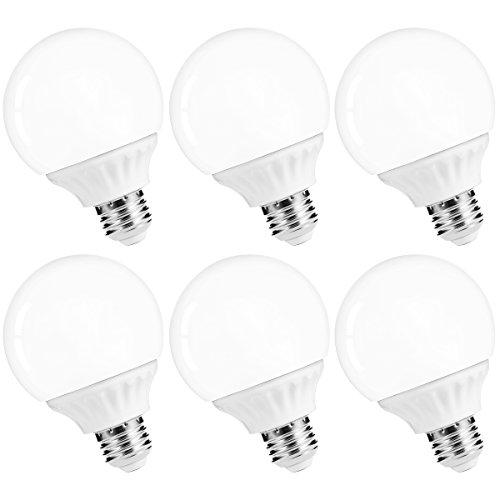 LOHAS LED Vanity Light Globe Bulbs, 40-45W Equivalent LED G25 Bulbs Daylight 5000k, Bathroom Vanity Lighting, 500Lm Lights E26 Edison Base for Home Bathroom Mirror Light Bulbs Not-Dimmable, 6Pack