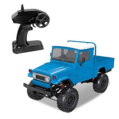 Tastak 1:12 RC Car 2,4 GHz Funk-Fernbedienung Military Truck 4WD Off Road Wüste Armee Auto wiederaufladbare High Speed Elektro-Rennwagen Buggy Hobby-Auto for Kind-Jungen Erwachsene (Color : Blau)
