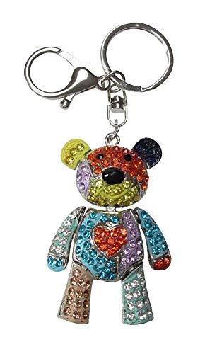 Llavero de oso con diseño de osito de oso multicolor con estrás...