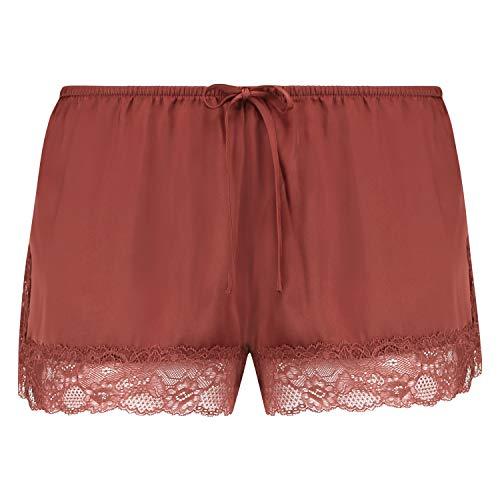 HUNKEMÖLLER Damen Pyjama-Shorts Satin Rot XS