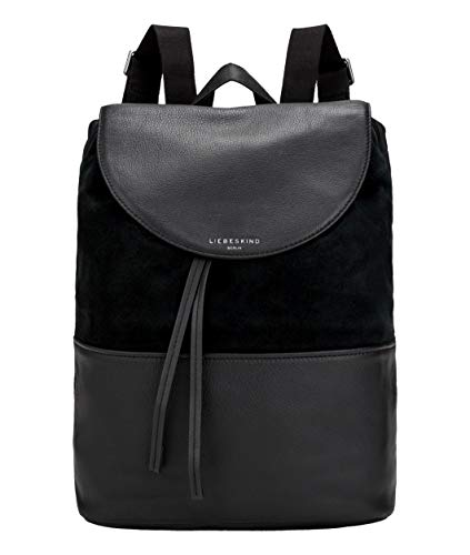 Liebeskind Berlin Damen Upsidedown Suede - Backpack Medium Rucksackhandtasche, Schwarz (Black), 15x50x50 cm