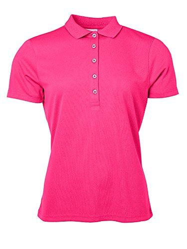 James & Nicholson Damen Active Poloshirt, Pink, 44 (Herstellergröße: 3XL)