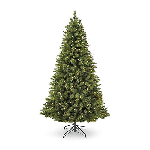 NOMA 7-Foot Henry Fir Christmas Tree with Lights | 400 Color-Changing Warm White & Multi-Color LED Lights with 3 Modes | 1000 Tips