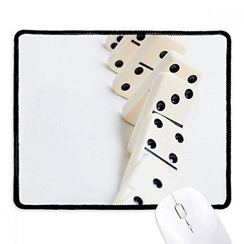 Pai Gow Domino gokken foto anti-slip muismat spel Office zwart gestikte randen gift