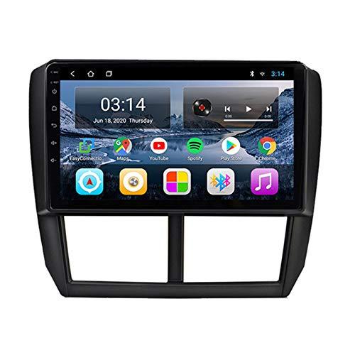 Amimilili Autoradio Stereo Adatto per Subaru Forester 2008-2012 9 Pollici Navigatore GPS Dual DIN Head Unit Supporto USB Video Bluetooth SWC Controllo del Volante,4 cores 4g+WiFi:2+32g