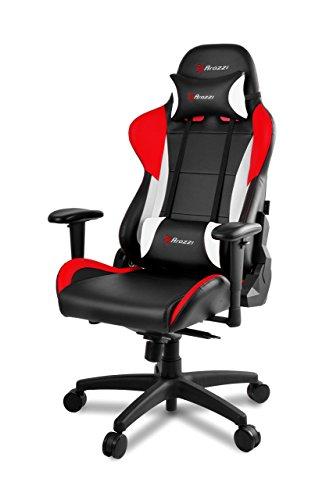 Arozzi - Verona Pro V2 sedia da Gaming, Nero Rosso, 50 x 55 x 130