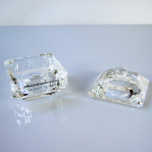 Makki Glasmischschüssel für Wimpern und Augenbrauen färben mit Deckel