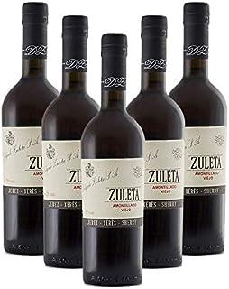 Vino Amontillado Vos Viejo Zuleta de 50 cl - D.O. Jerez - Bodegas Delgado Zuleta (Pack de 5 botellas)