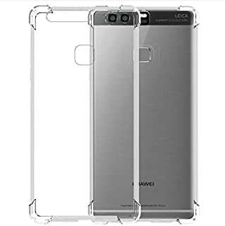 Jaorty Case Compatible for Huawei P9 Lite Case,Crystal Clear Reinforced Corners TPU Bumper Cushion Anti-Scratch Hybrid Rugged Transparent Back Cover Case for Huawei P9 Lite,Clear