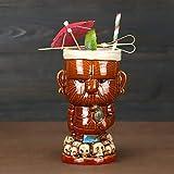 Copas de cóctel, 400ml / Tiki Tazas Cóctel, Tiki Bar Glasses Tiki Webware Ceramic Hawaiian - Lindas Gafas de cóctel exóticas Tiki Bar Profesional Hawaiian Party Barware