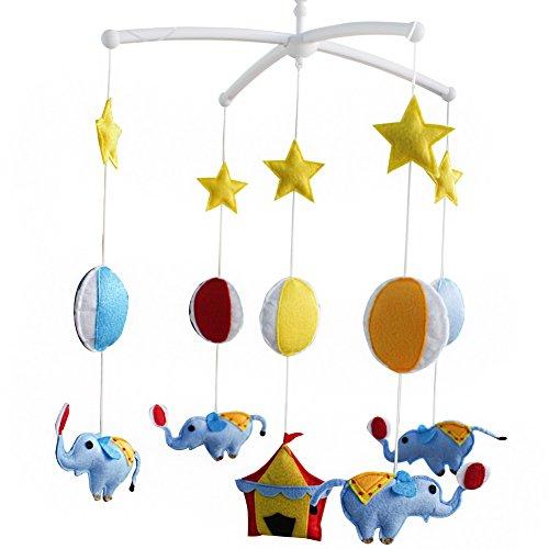 Décoration de pépinière de cadeau de jouet mobile de lit de bébé fait main pour 0-2 ans, MQ29
