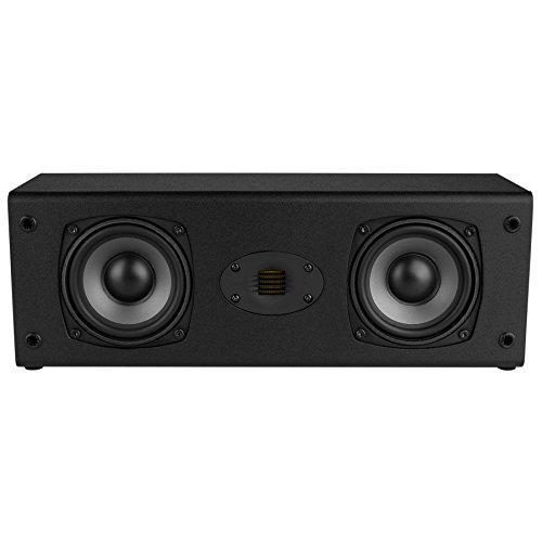 "Dayton Audio C452-AIR Dual 4-1/2"" 2-Way Center Channel Speaker with AMT Tweeter"