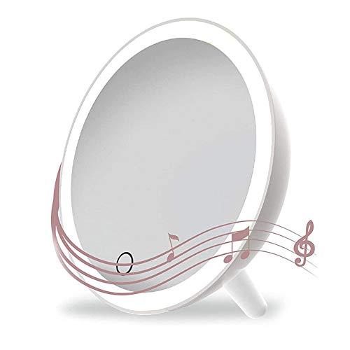 ZXCASD Espejo De Maquillaje, LED Espejo De Mesa con Soporte Espejo Cosmético Iluminado Interruptor De Pantalla Táctil Y Carga, Regalo para Mujer