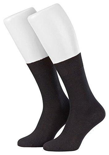 Tobeni 9 paires de chaussettes pour hommes chaussettes d'affaires coton riche Couleur Noir Taille 39-42