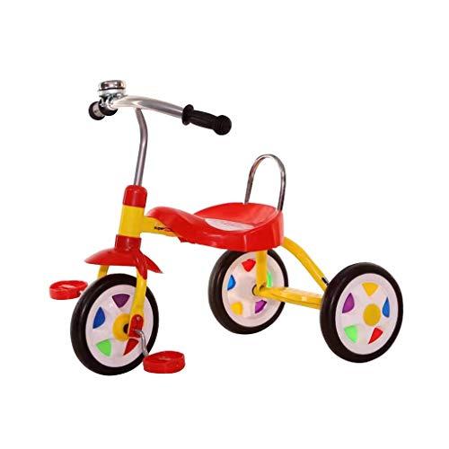 GYF Opciones de regalo de 2 colores para un bebé de 3 a 2 años para un pedal ligero. Un triciclo de montaje es fácil para bebés de 1 a 3 años de edad (color: rojo).