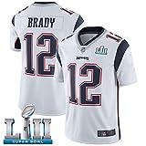 12# Tom Brady New England Patriots Rugby Jersey Fútbol Jersey-Polo para Hombre Camisas de Entrenamiento Ropa Deportiva para niños Malla de Secado rápido Sudadera de Manga Larga para fanáticos-Whi