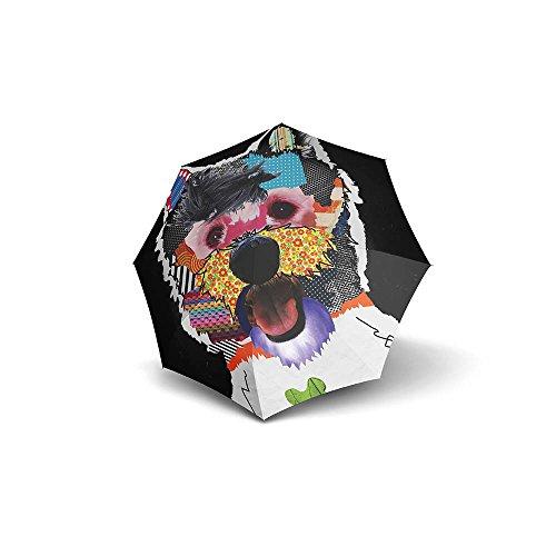 Doppler Modern Art Magic Patchdog Regenschirm Umbrella Schirm mit Doppel Automatik 74615702