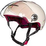 ZHXH Moto Harley Mezzo casco Estate Unisex Piccolo Scooter portatile 3/4 aperto Casco/punto approvato,