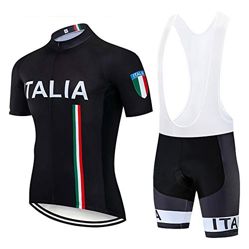 STEPANZU Maillot Ciclismo Verano Hombre-Mujer MTB Ropa + Culote Pantalones Cortos Conjunto...