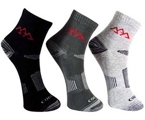 Noga Coolmax Chaussettes 3-Pack extérieur Alpinisme pour Homme Chaussettes de Sport Absorber l'humidité Perméabilité Faible Chaussettes