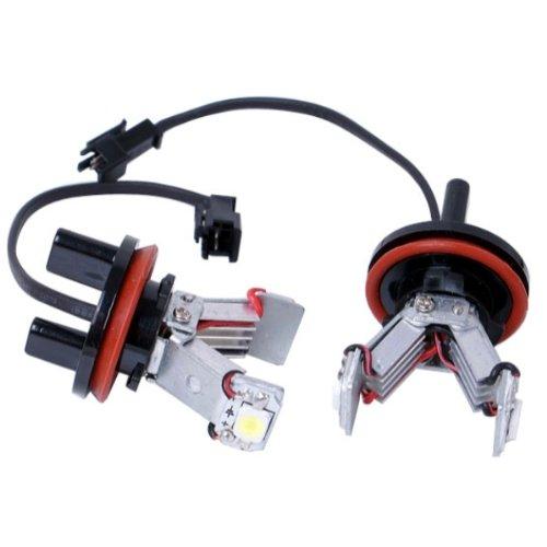 akhan stlh82 – Angel Eyes LED feu de position SMD 6 W H8 Convient pour BMW 6 E63 E64