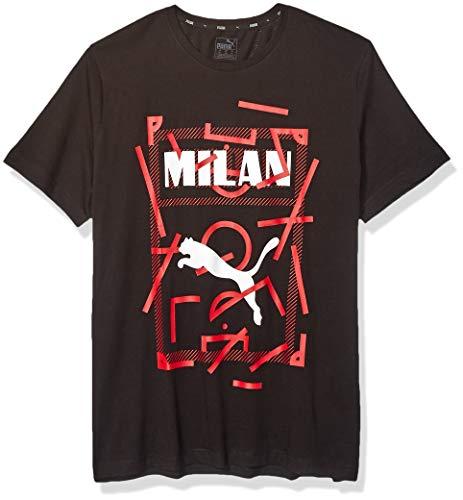 PUMA Herren Ac Milan DNA Tee, Herren, T-Shirt, AC Milan DNA Tee, Baumwolle Blacktango Rot, X-Large