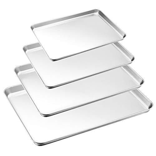 Baking Tray Set of 4, HaWare Stainless Steel Baking Sheet –Rimmed Pan...
