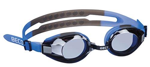 Beco Unisex– Erwachsene Arica Profischwimmbrille, blau/grau, One Size