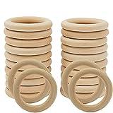 Wednesday(40mm/24pcs)Aros de madera para manualidades/ artesanías , anillas...