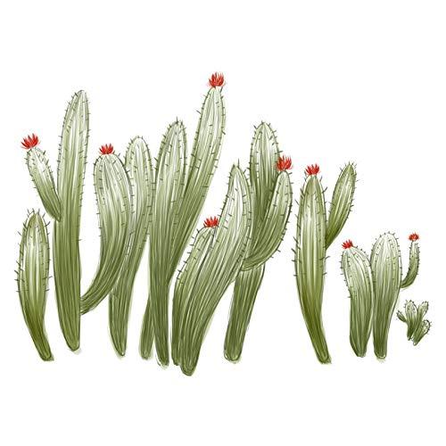 N-A Handbemalte Aufkleber Wand Druckereien Kaktus Fußleiste Wandaufkleber kreative PVC Innenwanddekoration,45 * 60CM * 2ST