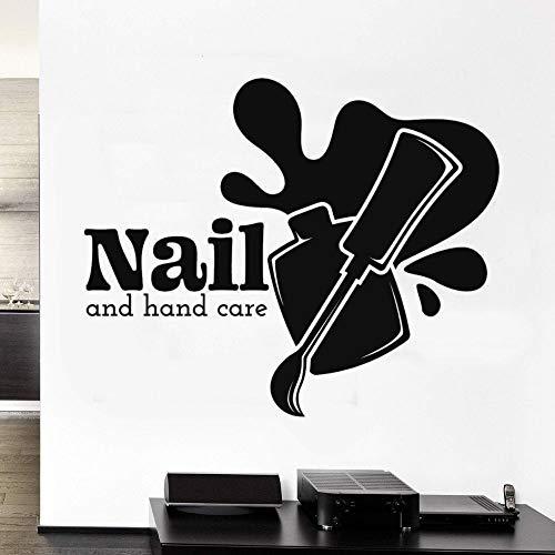 yaonuli Vinyl Nagel Studio Hand Silhouette Wandaufkleber Silhouette Nagelstudio Wandbild Dekoration Aufkleber 91x72cm